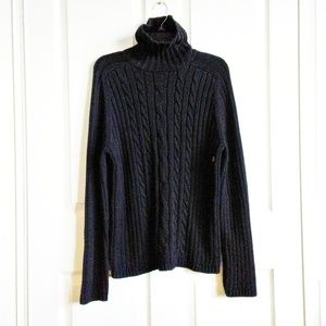 NWT Marsh Landing Black Cable Knit Sweater